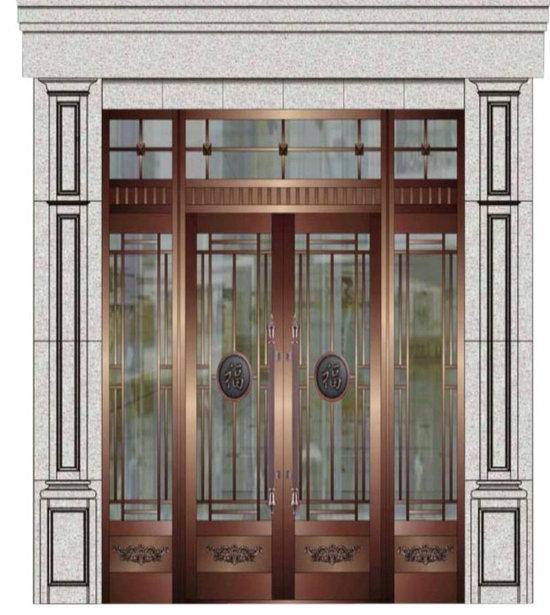 玻璃铜门4